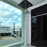 Porta de entrada revestido de vidro | fixo